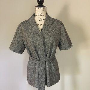 Ann Taylor short sleeve belted jacket.